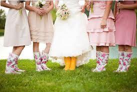 bruid regenlaarzen